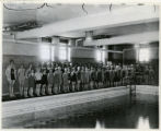 Washington Street, #60, YMCA Pool, girls swimming class, 05/28/1927, Morristown, NJ