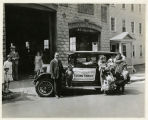 Early Street, #2-4, Eskimo family at John Hays' Oldsmobile Garage, 06/09/1927, Morristown, NJ