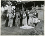 Wedding, bridal party of Mr. and Mrs. John P. Glanville, 08/17/1927, Morristown, NJ