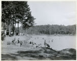 Burnham Park, bathers on beach, 08/19/1928, Morristown, NJ