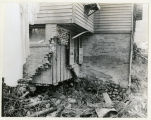Madison Street, #32, Robert N. Savidge house with flood damage on Water Street side, 09/12/1928,...