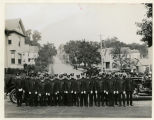 Hillside Fire Department, men in uniform with fire truck, 10/03/1928, Morristown, NJ
