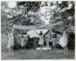 School children at Leafcroft School, perfoming scarf dance, 06/07/1927, Whippany, NJ