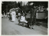 Baby parade, float with women in costume, 09/03/1927, Indian Lake, Denville, NJ
