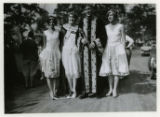 Parade, King and Queen and two female attendants, 09/03/1927, Morristown, NJ