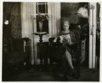 Portrait of Edna Kurdt in unknown house interior, 11/06/1928, Morristown, NJ