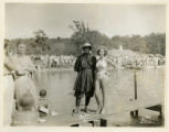 Burnham Park water carnival, Miss H. Hahn and Miss W. Ensinger, 7/14/1935, Morristown, NJ
