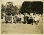 "Girl Scouts and judges with ""round-up"" prize horses, 5/16/1936, Morristown, NJ"