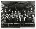 Civilian Conservation Corps, group shot at mess hall during Christmas dinner, Morris County, NJ