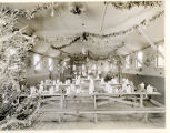 Civilian Conservation Corp., Christmas dinner set up at mess hall, 12/25/1933,  Morris County, NJ
