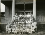 Group of children on stoop of the neighborhood house, 7/30/29, Morristown, NJ
