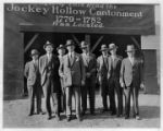 Mayor Potts and officials at Jockey Hollow, 10/27/1932, Morristown, New Jersey