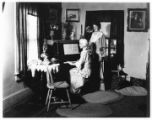 Dorothy Davies (or Dawes) & Betty Fyfe in Fyfe House, 07/04/1932, Morristown,