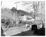 American Legion at dedication stone to mark site of Henry Knox Brigade,  11/11/1932, Mendham Ave.,...