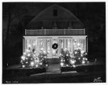 Night view of R.A. Lawless home, 12/28/1936, Mt. Tabor, NJ