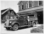 Fairchild Fire Station, new fire engine, 07/07/1938, Morris Township,, NJ