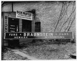 Braunstein Furs Company sign, 12/20/1937, Morristown, NJ