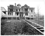Western Avenue, # 68, front, James Appling house after fire, 11/25/1932, Morristown, NJ