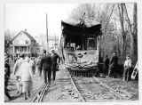 Wrecked trolley car of Morris Co. Traction Co., 04/19/1926, Morris County, NJ