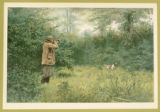 "Print, color chromolithograph, ""Summer Woodcock"", from Shooting Pictures, by Scribner..."