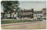 James Park, view looking towards Park Place north, posted 1909, Morristown, NJ