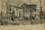 Flagler's Grist mill at Pocohantas Lake, 1906, Morristown, NJ