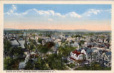Morristown, aerial view of South street facing west, circa 1910, Morristown, NJ