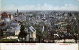 Morristown, aerial view from Fort Nonsense, circa 1900, Morristown, NJ
