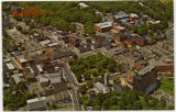 Morristown, aerial view of the Morristown Green, circa 1975, Morristown, NJ