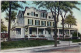 Morristown Inn, front view in color, circa 1900, Morristown, NJ