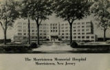Memorial Hospital, Madison Avenue, circa 1940, Morristown, NJ
