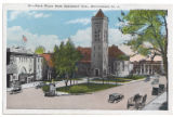 James Park, and Presbyterian Church, early 20th century, post 1907,Morristown, NJ