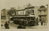 Morristown Trolley at Speedwell Ave., Roth & Co, circa 1909, Morristown, NJ