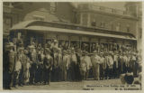Morristown Trolley, first trolley operating, 1909, Morristown, NJ