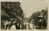 Speedwell Ave, crowds and carriages, circa 1909, Morristown, NJ