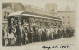 Morristown Trolley, first trolley, 1909, Morristown, NJ