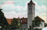 First Presbyterian Church tower, circa 1910, Morristown, NJ