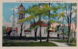 First Presbyterian Church and monument, circa 1910, Morristown, NJ