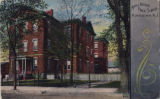 Maple Avenue Public School, printed with decorative border, circa 1910, Morristown, NJ