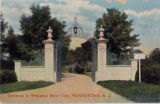 Whippany River Club entrance, circa 1910, Morris Township, NJ