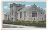 Morristown & Morris Township Library, view from South street,  early 20th century, post 1916, ...