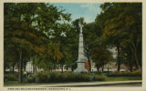 Morristown Green, Civil War monument, circa 1900, Morristown, NJ