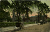 Morristown Green, view towards south street, circa 1900, Morristown, NJ