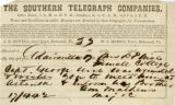 Telegraph note to Miss D? Wise, Civil War Diary of Confederate soldier George D. Wise, 186?